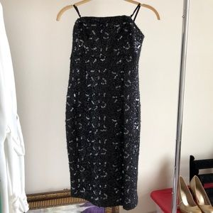 NWT- winter sequence strapless dress